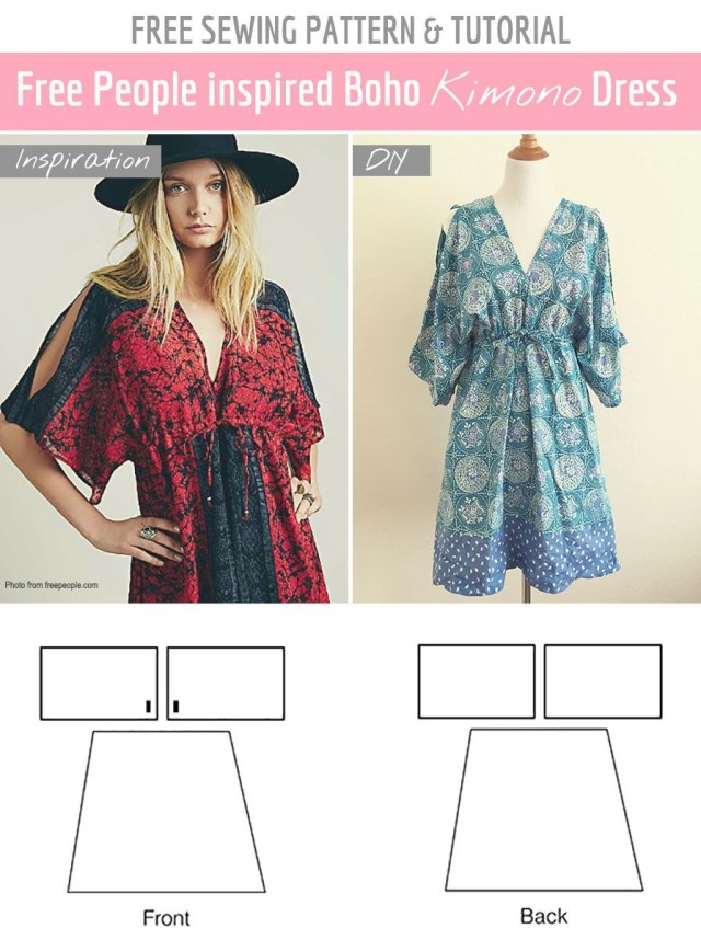 Easy Sew Patterns Free Sewing Pattern Tutorial Free People Inspired Summer Dress