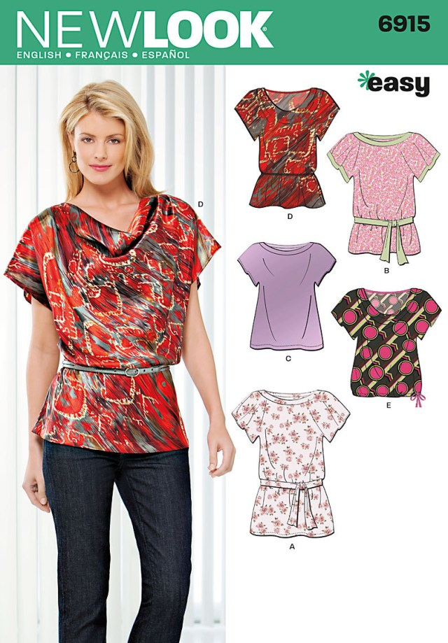 Easy Sew Patterns Summer Blouse Sewing Pattern
