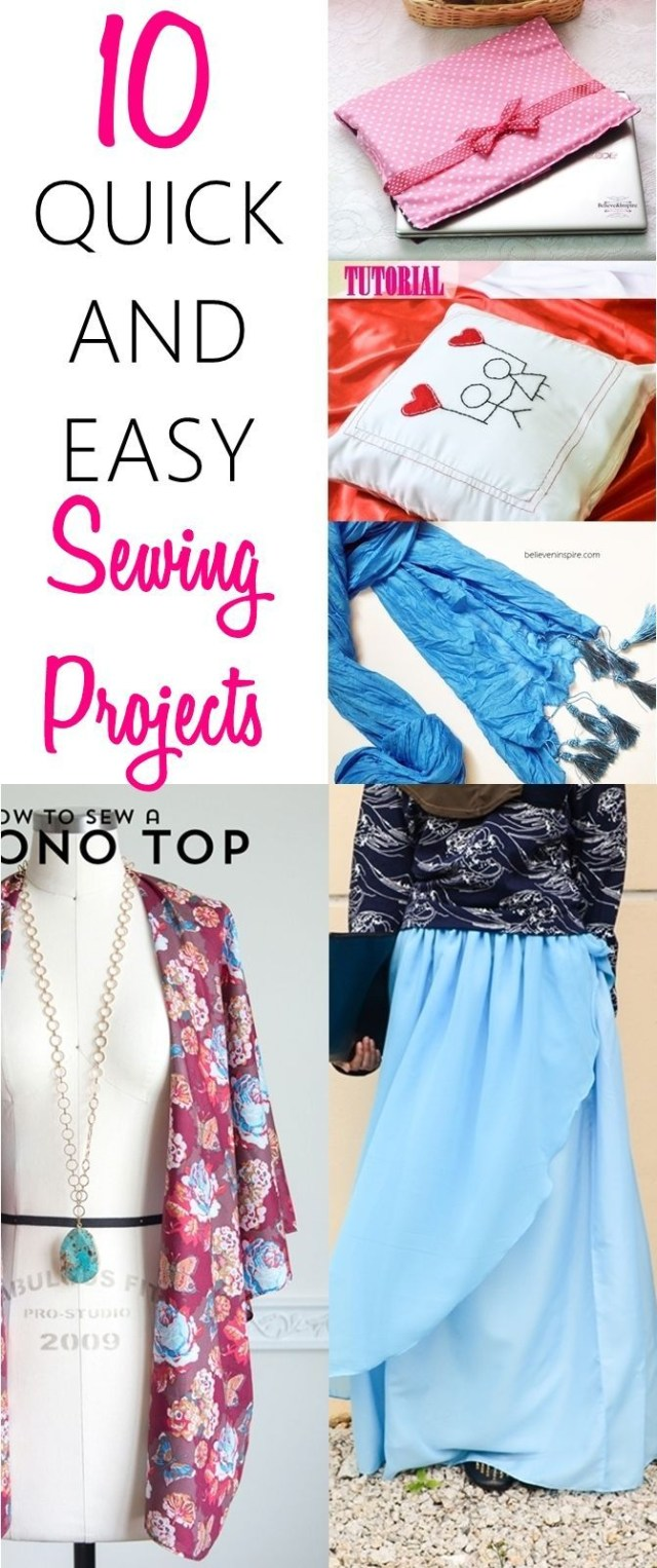 Easy Sewing Patterns For Beginners 10 Best Quick And Easy Sewing Projects For Beginners Things To Sew