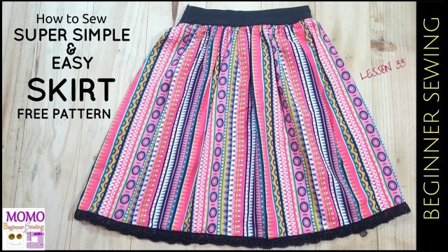 Easy Sewing Patterns For Beginners How To Sew Super Simple Easy Skirt Free Pattern Beginners