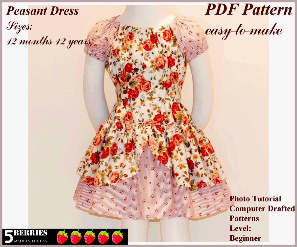 Easy Sewing Patterns Free Printable Sewing Patterns Alexandra Girls Dress Sewing