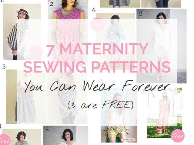 Free Patterns For Sewing 7 Maternity Sewing Patterns You Can Wear Forever 3 Are Free Sew