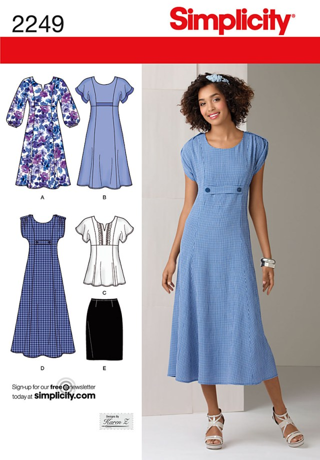 Free Plus Size Sewing Patterns Simplicity 2249 Misses Plus Size Dresses