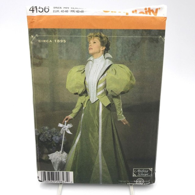 Free Plus Size Sewing Patterns Simplicity 4156 Womens Victorian Walking Outfit Costume Size 14 20