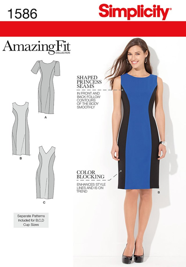 Free Plus Size Sewing Patterns Simplicity Amazing Fit Missesplus Size Sewing Pattern 1586 Dress