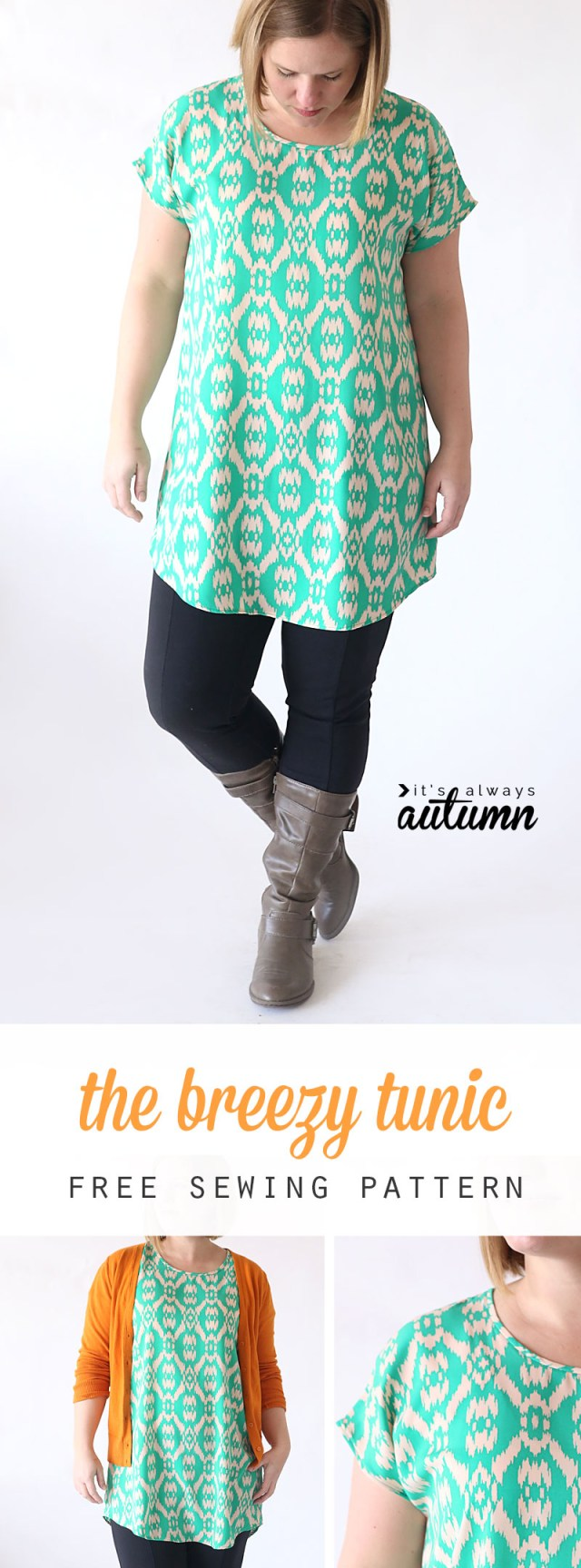 Free Plus Size Sewing Patterns The Breezy Tee Tunic Free Sewing Pattern Its Always Autumn