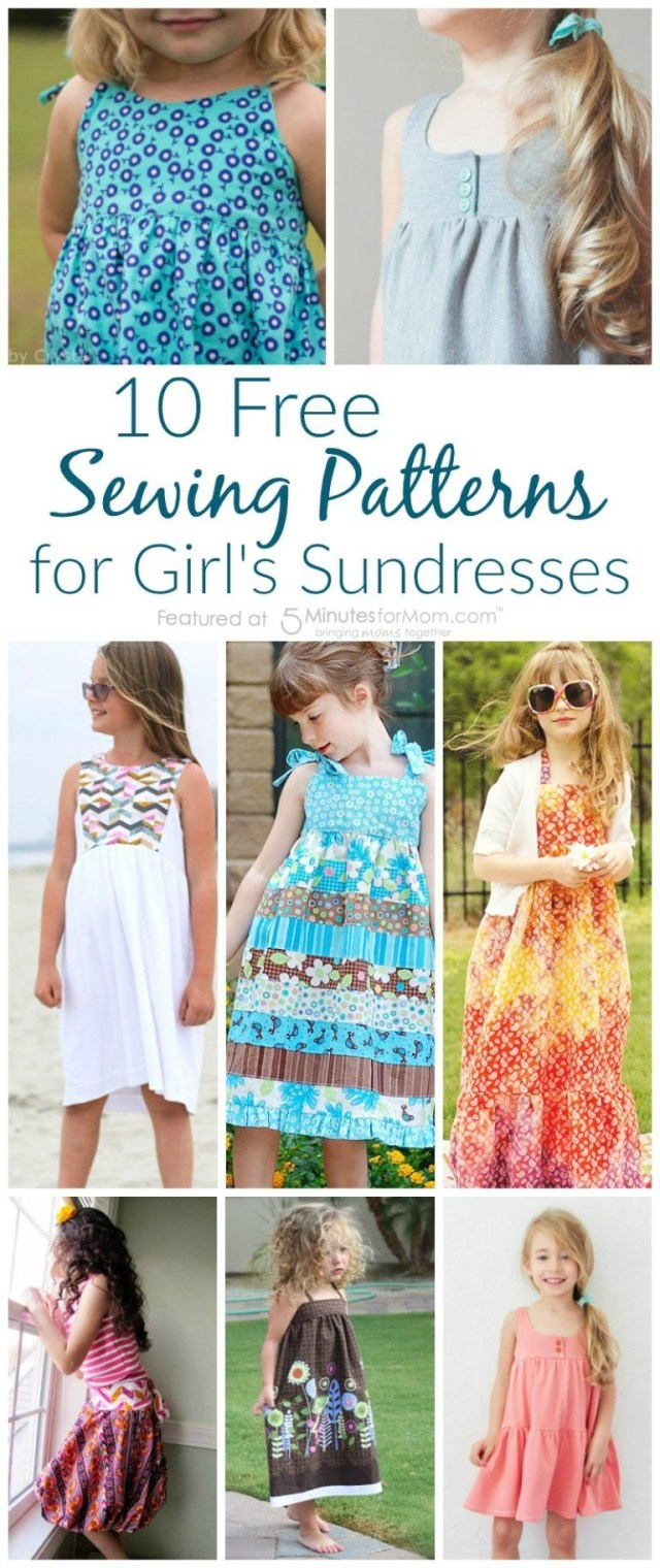 Free Sewing Patterns 10 Fabulous And Free Sewing Patterns For Girls Sundresses Pinterest