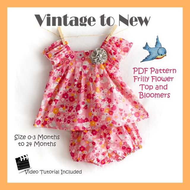 Free Sewing Patterns For Baby Pdf Sewing Pattern For Babies Top And Bloomers