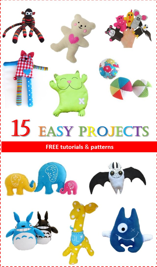 Free Sewing Patterns For Beginners Easy Projects For Sewing Toys Free Patterns Sew Toy