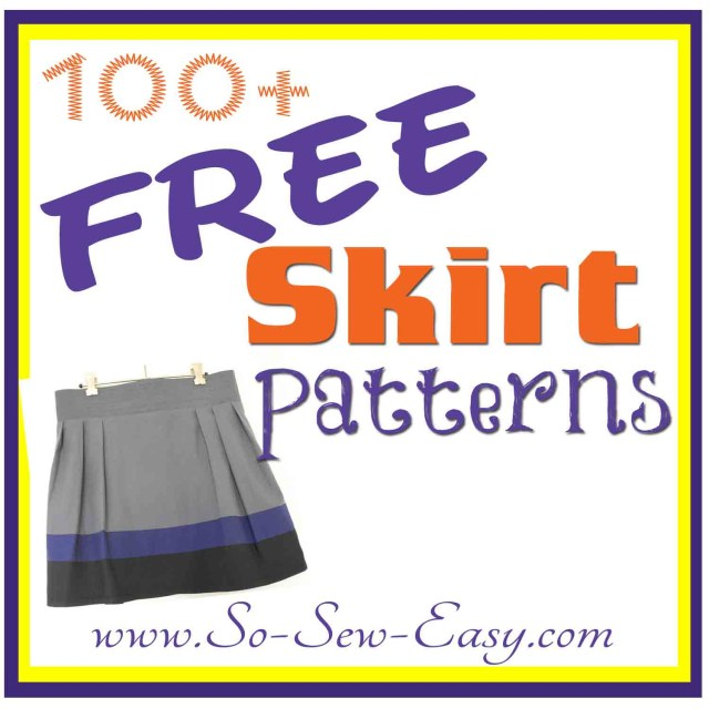Free Sewing Patterns For Beginners Free Skirt Sewing Patterns Over 100 So Sew Easy