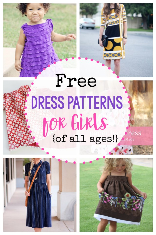 Free Sewing Patterns For Kids 25 Free Dress Patterns For Girls Of All Ages Crazy Little Projects