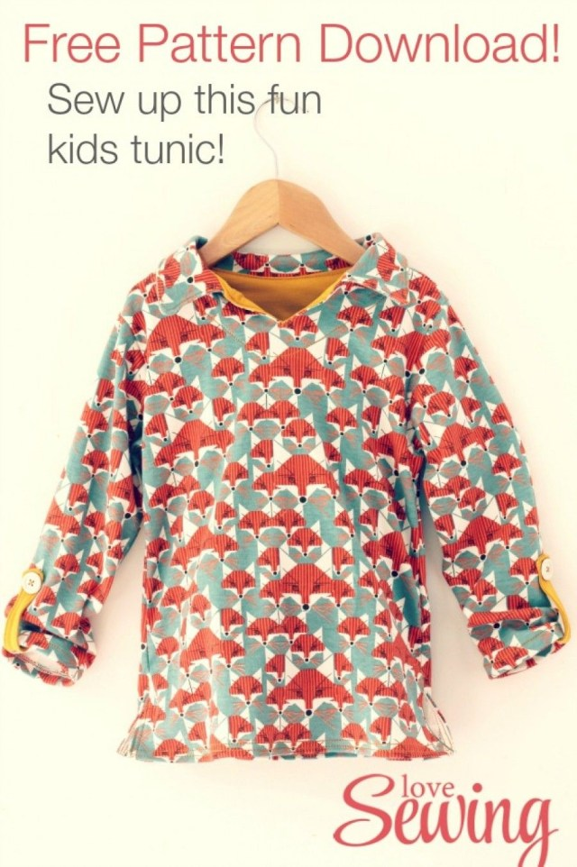 Free Sewing Patterns For Kids Kids Tunic Free Pattern To Download Diy Sewing For Little