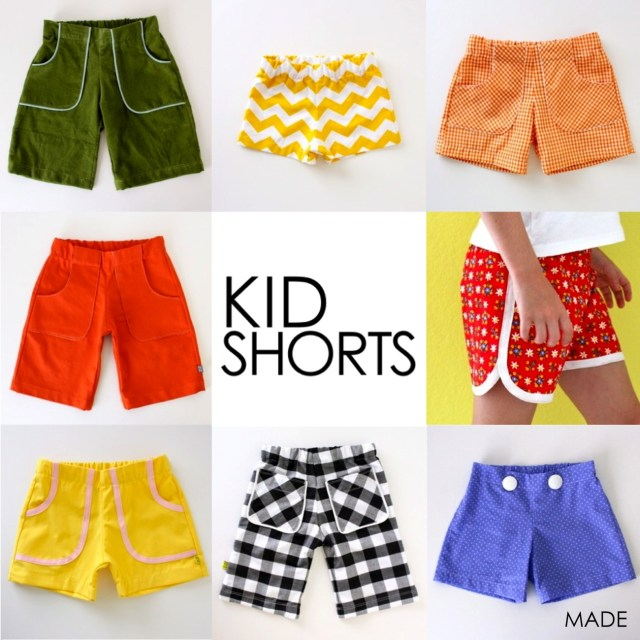 Free Sewing Patterns For Kids Pattern Kid Shortsages 12 Months To 10 Years Made Everyday
