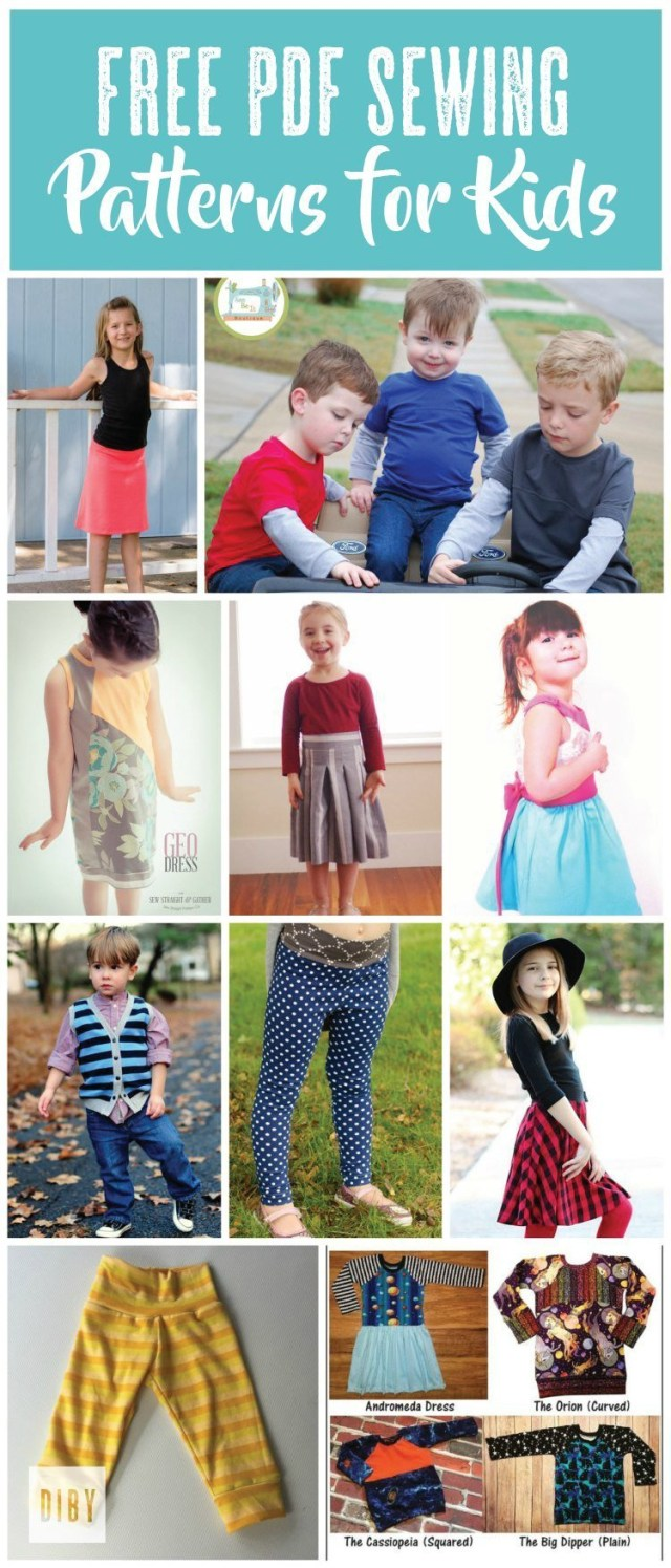 Free Sewing Patterns For Kids The Best Free Kids Pdf Sewing Patterns The Di Club