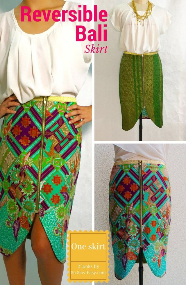 Free Sewing Patterns Reversible Skirt Free Pattern Lets Call It Bali Free Sewing
