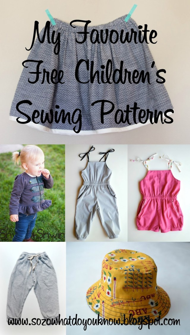 Free Sewing Patterns So Zo My Favourite Free Childrens Sewing Patterns