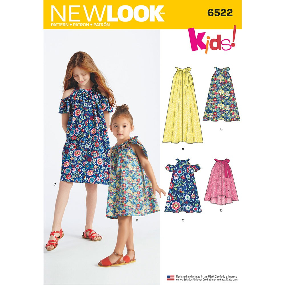 Girls Sewing Patterns Childs And Girls Dresses And Top New Look Sewing Pattern 6522 Sew