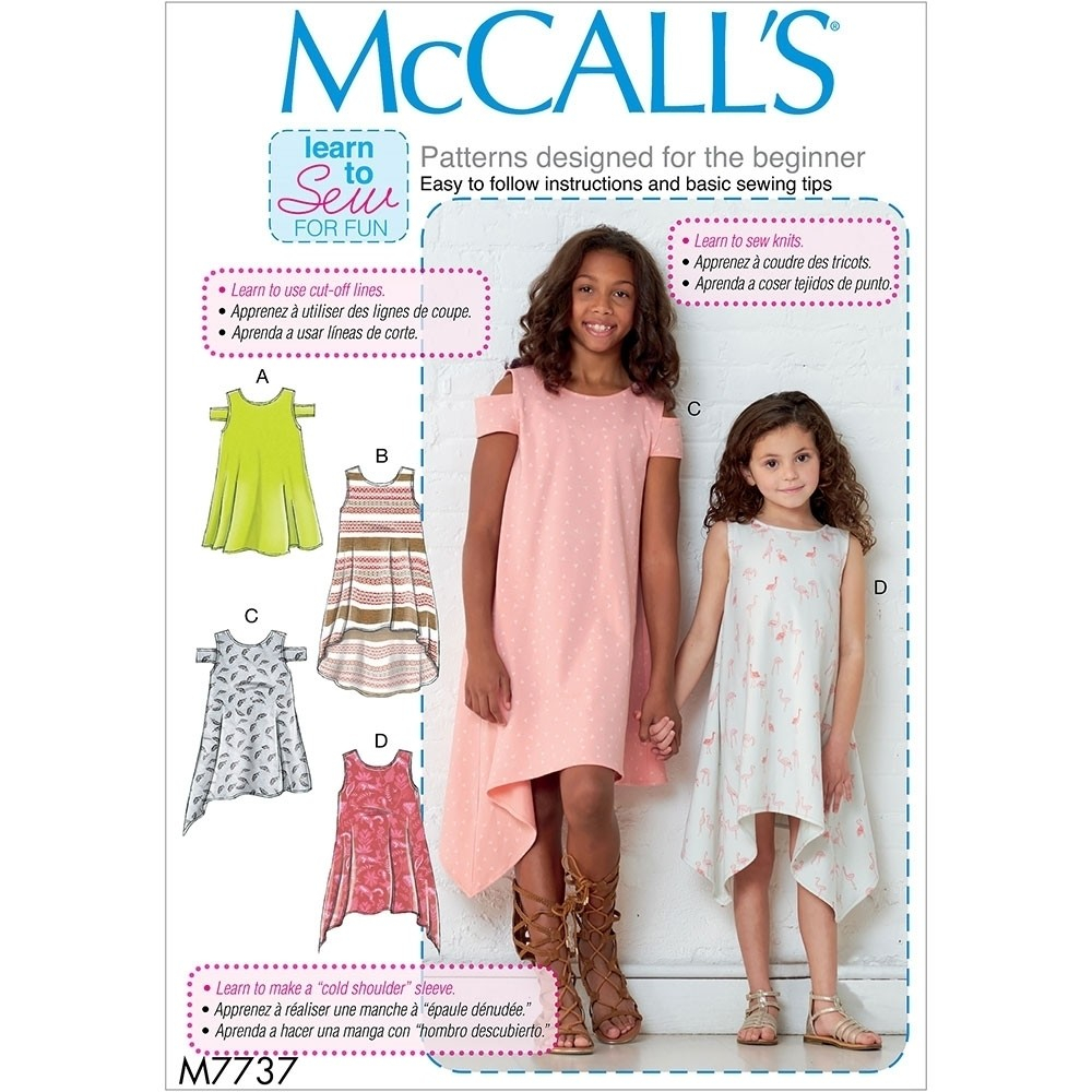 Girls Sewing Patterns Girls Dresses Mccalls Sewing Pattern 7737 Sew Essential
