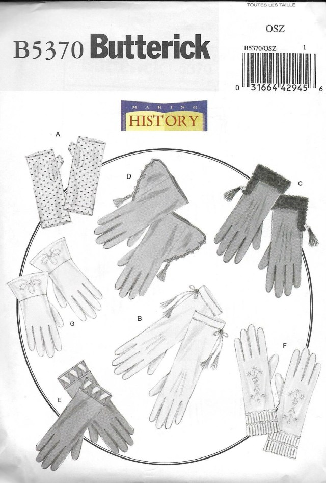 Glove Sewing Pattern Butterick 5370 Uncut Historical 7 Styles Gloves Sewing Pattern Etsy