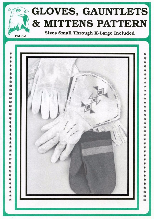 Glove Sewing Pattern Leather Gloves Traditional Gauntlets Leather Mittens Fur Backed