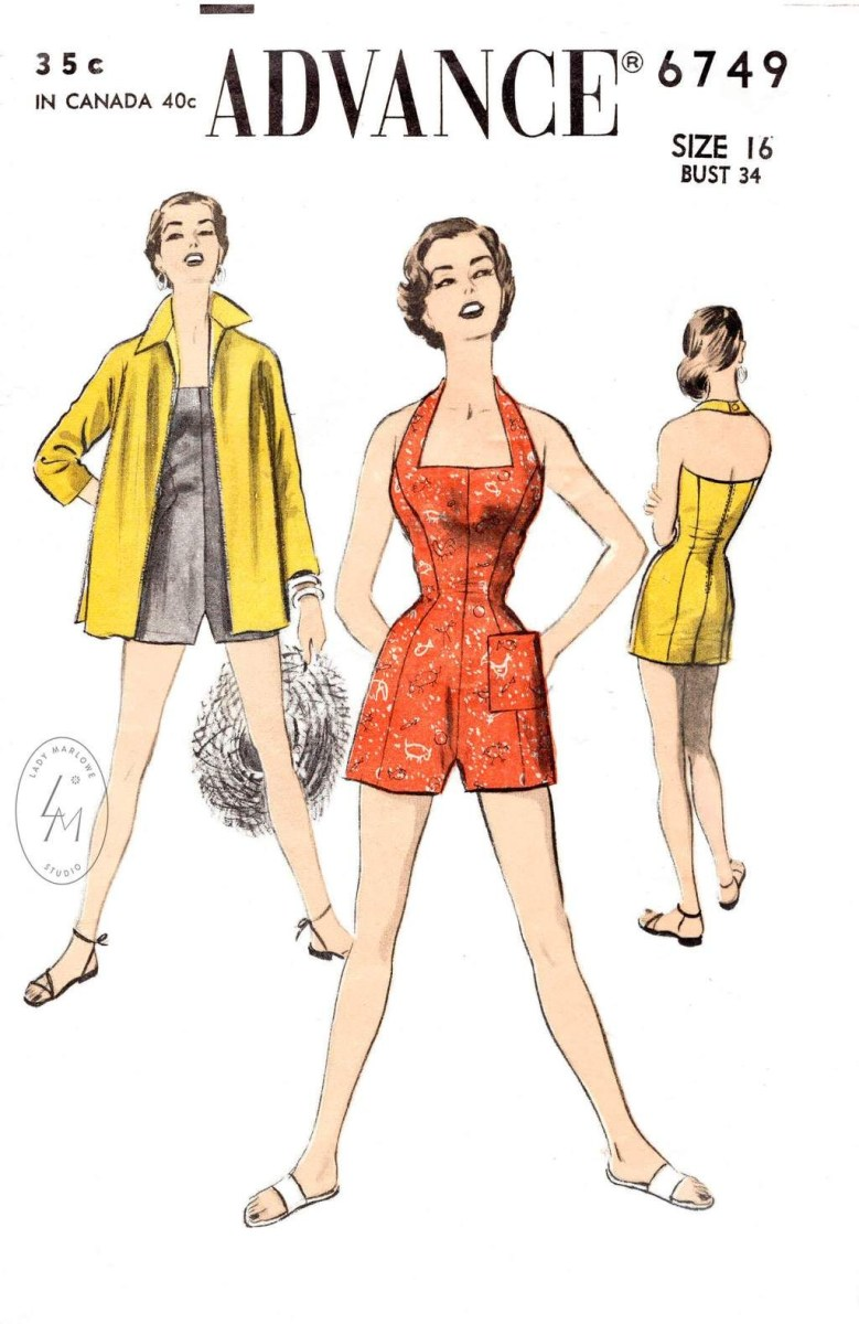 Halter Neck Sewing Pattern A 6749 Bust 34 Lady Marlowe Patterns Pinterest Sewing