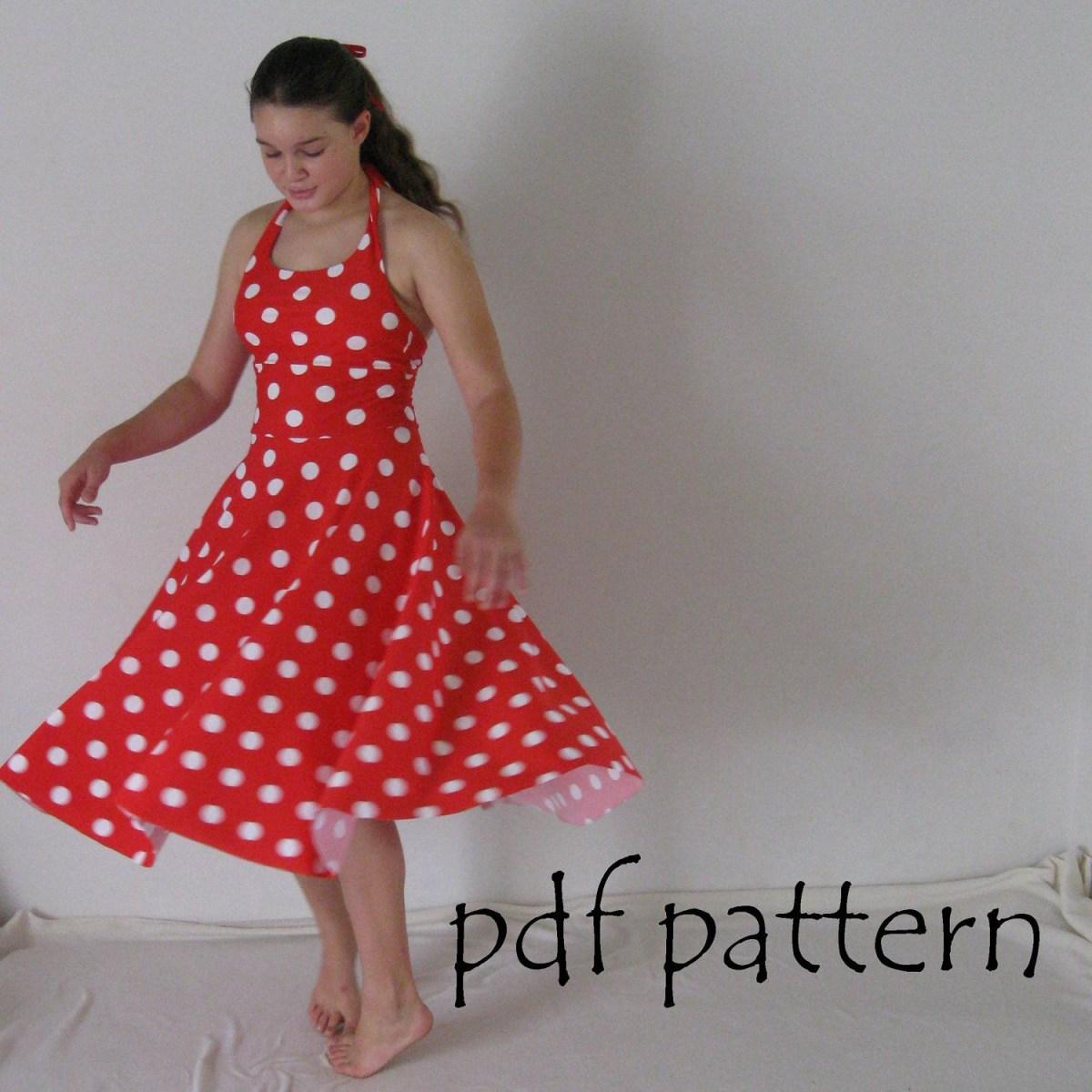Halter Neck Sewing Pattern Maria Dress Pattern Pdf Sewing Pattern Halter Neck Girls Sizes 2 14