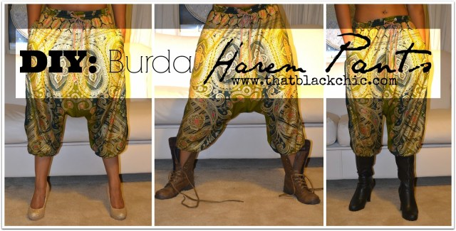 Harem Pants Sewing Pattern Diy Burda Harem Pantsits All About The Pants That Black Chic