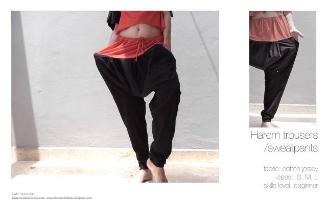 Harem Pants Sewing Pattern Drawstring Harem Trousers Sewing Patterns Elena Fashion Design