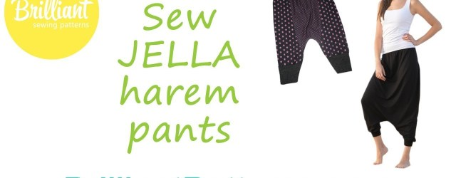 Harem Pants Sewing Pattern Sew Jella Harem Pants Designed Brilliant Patterns Youtube