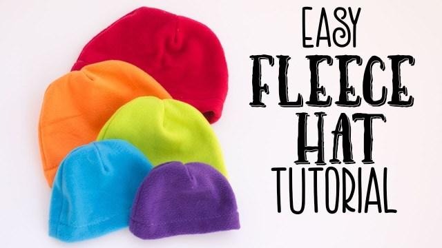 Hat Sewing Patterns Easy Fleece Hat Tutorial Free Pattern Youtube