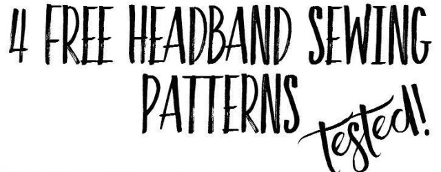 Headband Sewing Pattern 4 Free Headband Tutorials Tested A Modern Thread Pinterest