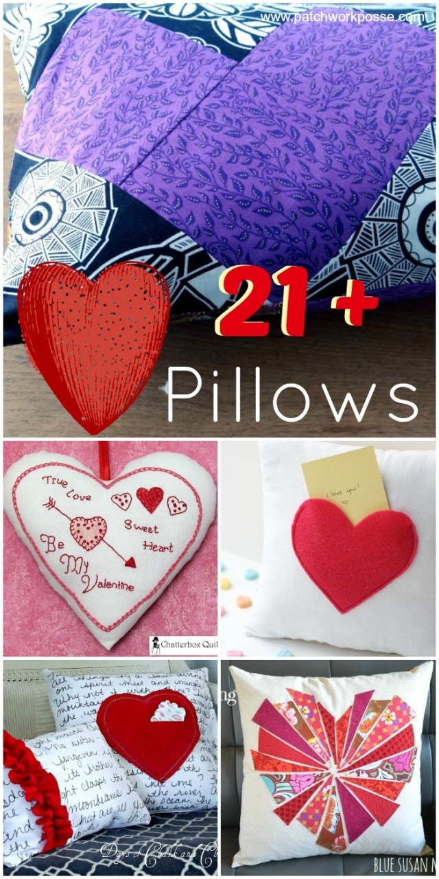 Heart Pillow Sewing Pattern Diy Heart Pillow Tutorial Round Up The Daily Seam