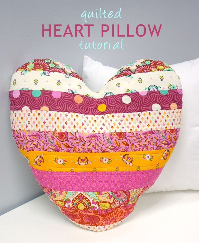 Heart Pillow Sewing Pattern Quilted Heart Pillow Quilts Pinterest Quilts Sewing And Heart
