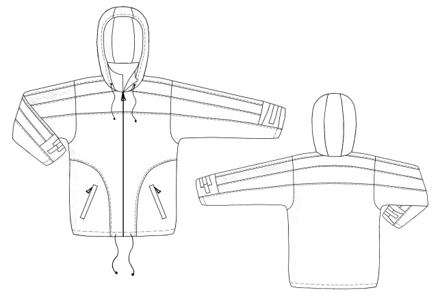 Hood Sewing Pattern Jacket With Removable Hood Sewing Pattern 6116 Made To Measure
