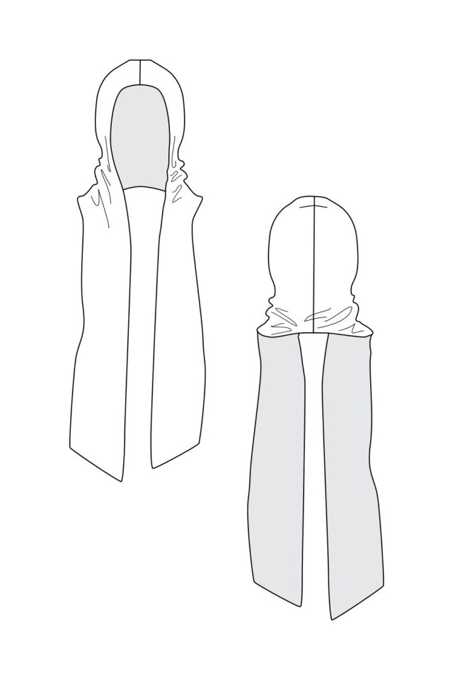 544cdfb99d9241 Hood Sewing Pattern The Nuna Hood Scarf Named Clothing Is A Must Have  Accessory For