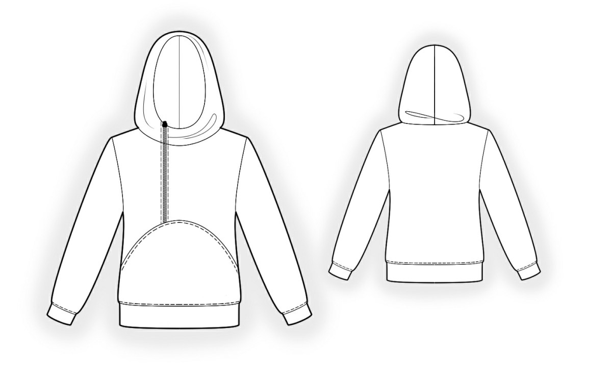 Hoodie Sewing Pattern Hoodie Sewing Pattern 4341 Made To Measure Sewing Pattern From