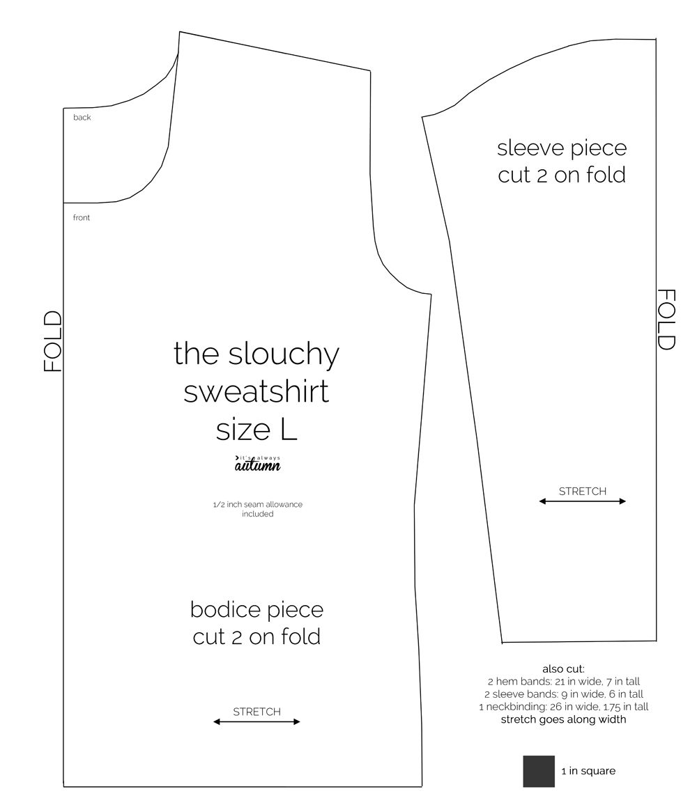 Hoodie Sewing Pattern The Perfect Slouchy Sweatshirt Free Pattern Its Always Autumn
