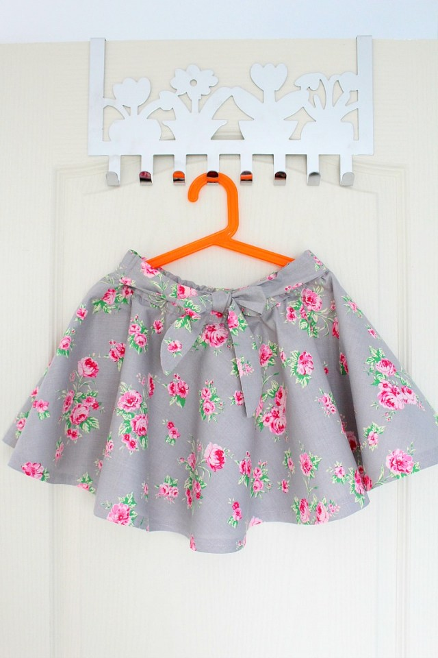 How To Make A Sewing Pattern Circle Skirt Tutorial With Elastic Waist Without A Pattern