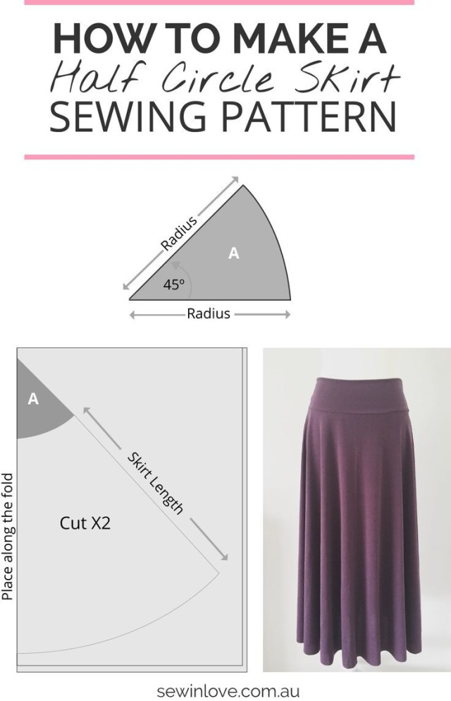 How To Make A Sewing Pattern How To Make A Skirt In One Day Easy Half Circle Skirt Costura