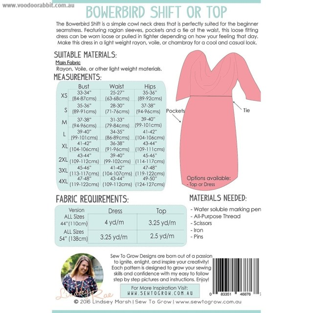 How To Make Sewing Patterns Bowerbird Shift Dress Sewing Pattern Sew To Grow Alternative