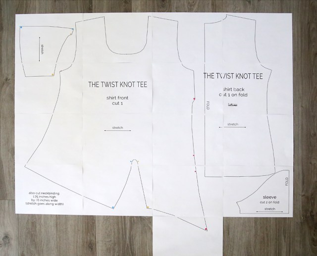 How To Make Sewing Patterns The Twist Knot Tee Free Sewing Pattern Its Always Autumn
