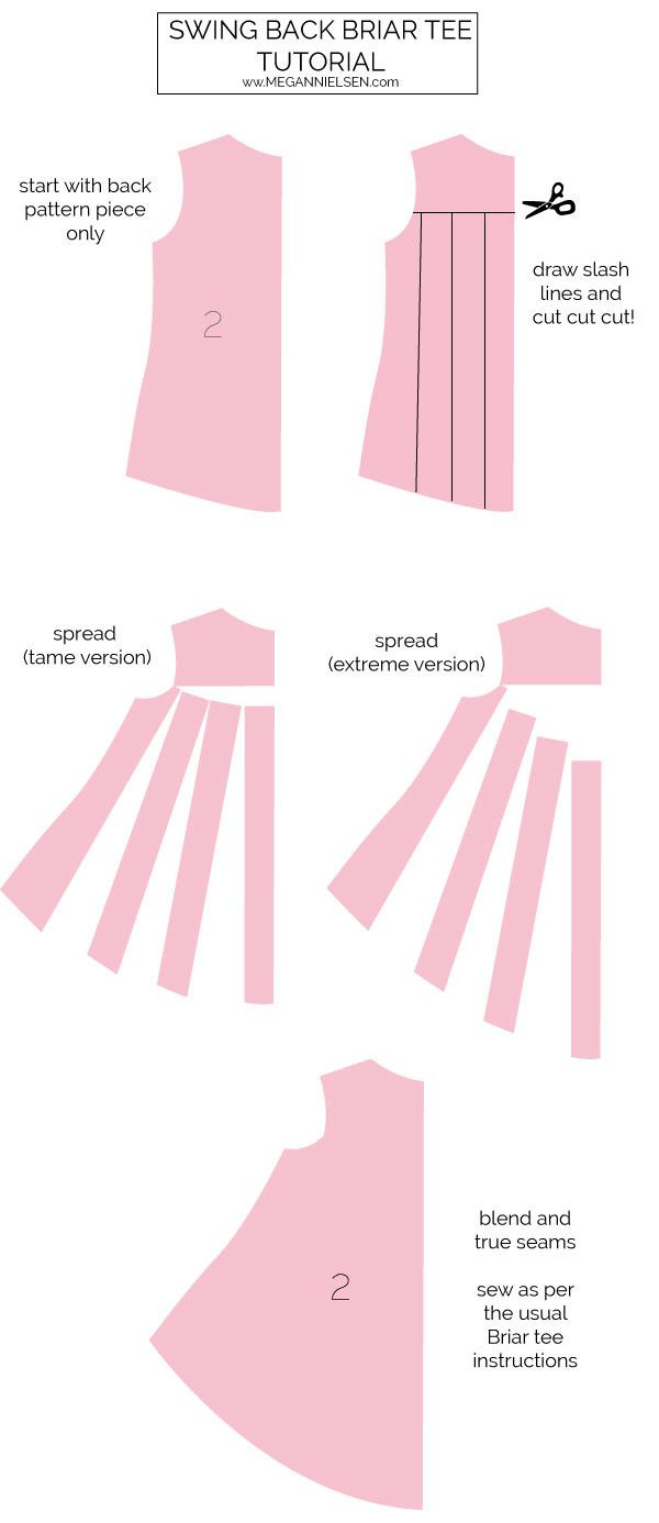 How To Make Sewing Patterns Tutorial Swing Back Briar Tee Pattern Drafting 101 Pinterest