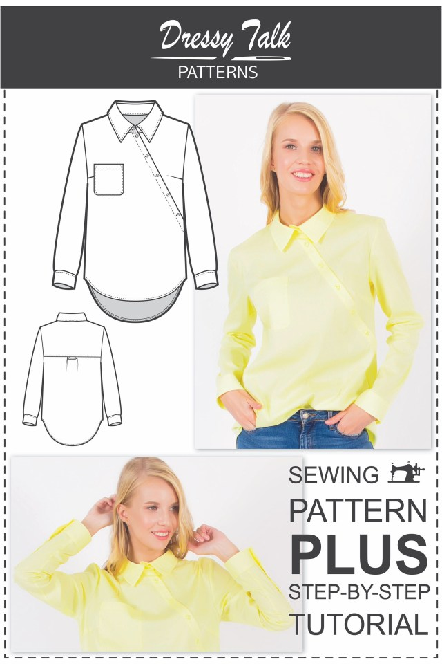 Indie Sewing Patterns Yes Shirt Pattern Sewing Patterns Designer Blouse Pattern