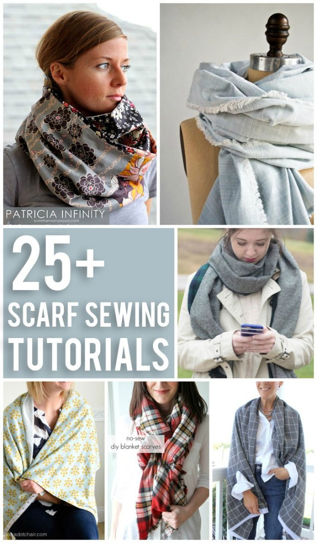 Infinity Scarf Sewing Pattern 25 Scarf Sewing Tutorials The Polka Dot Chair