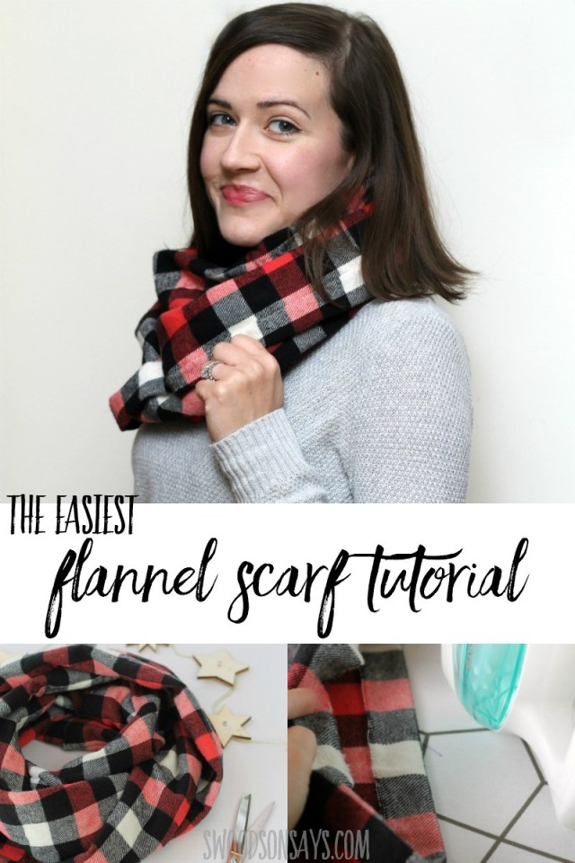 Infinity Scarf Sewing Pattern Friday Spotlight Stephanies Diy Flannel Infinity Scarf
