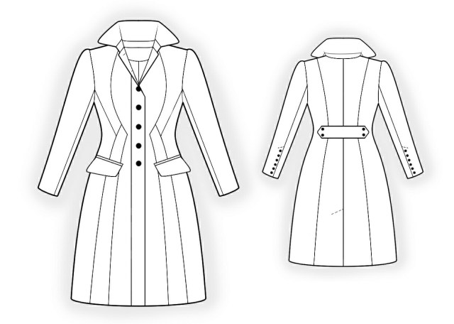 Jacket Sewing Patterns Waisted Coat Sewing Pattern 4298 Made To Measure Sewing Pattern