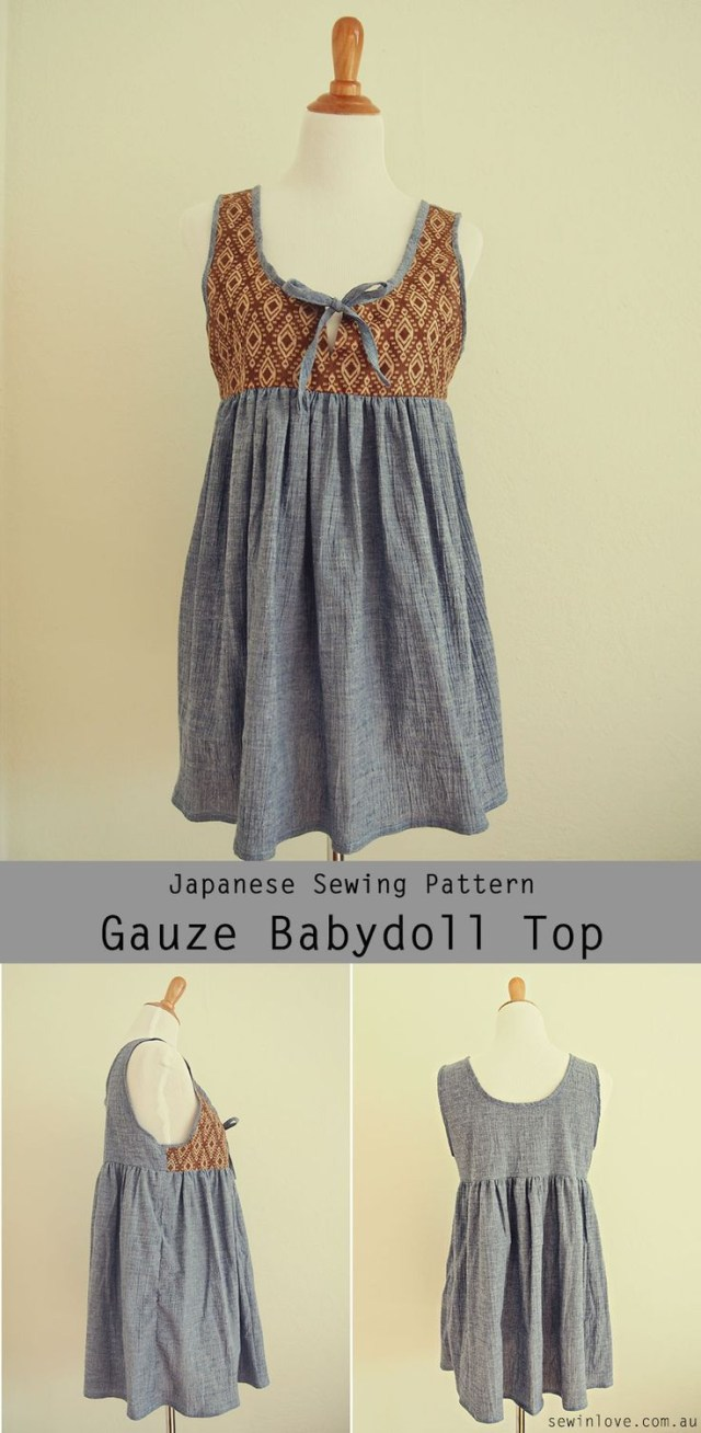 Japanese Sewing Patterns Cute Maternity And Nursing Badoll Top Japanese Sewing Pattern