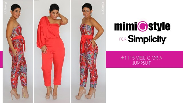 Jumpsuit Sewing Pattern How To Sew The Mimi G Style For Simplicity Pattern 1115 Tutorial