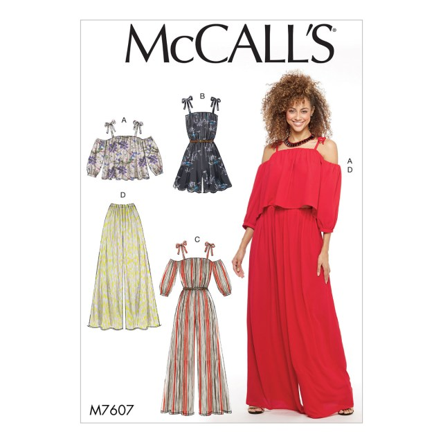 Jumpsuit Sewing Pattern Mccalls Sewing Pattern M7607 Misses Top Jumpsuit Loose Fitting