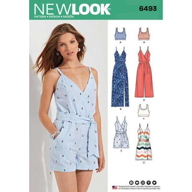 Jumpsuit Sewing Pattern Misses Jumpsuit And Dress In Two Lengths With Bralette New Look